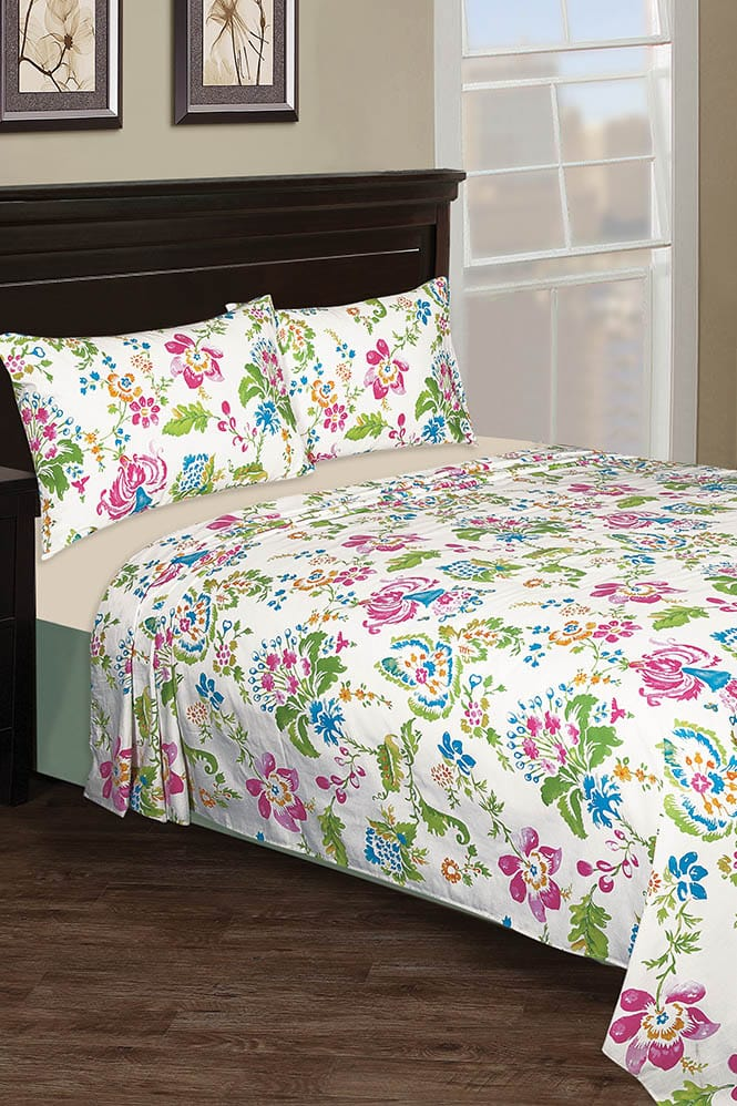 bcdc52e329 Nishat Linen Bed Sheet Floret | Mart And Mart