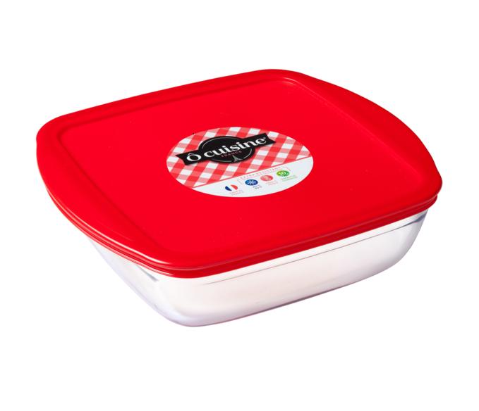 o cuisine square roaster with lid 1 6 litre mart and mart. Black Bedroom Furniture Sets. Home Design Ideas